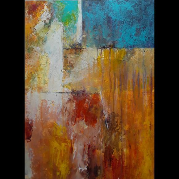 Prahar #1, acrylic on paper, 56 x 41cm. By John Potter.